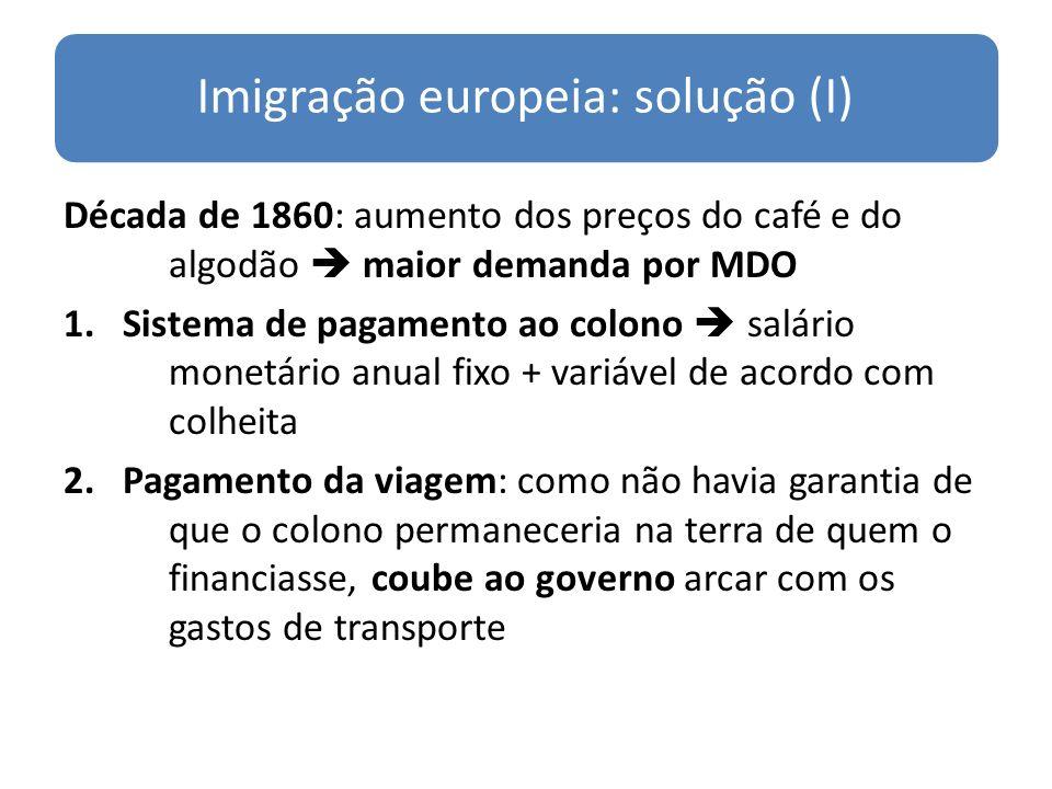 Imigração europeia: solução (I)