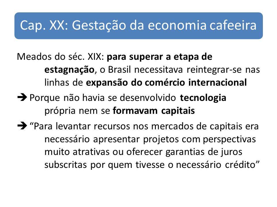 Cap. XX: Gestação da economia cafeeira