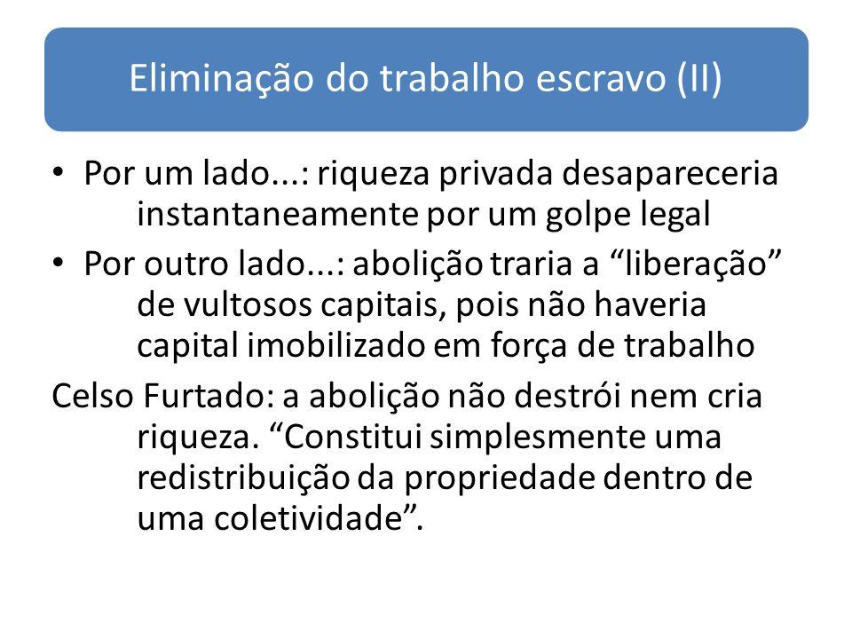 Eliminação do trabalho escravo (II)