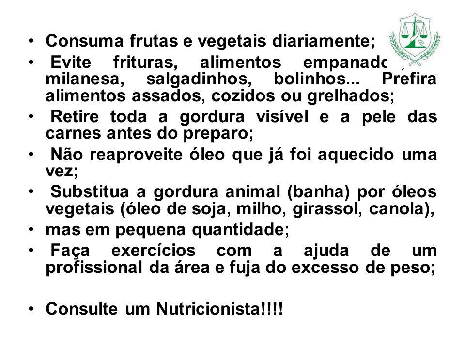 Consuma frutas e vegetais diariamente;