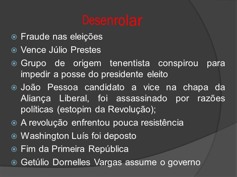 Desenrolar Fraude nas eleições Vence Júlio Prestes