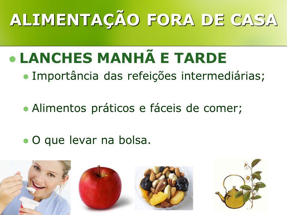 ALIMENTAÇÃO FORA DE CASA