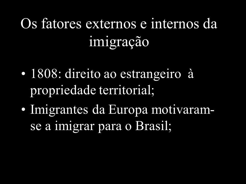 Os fatores externos e internos da imigração