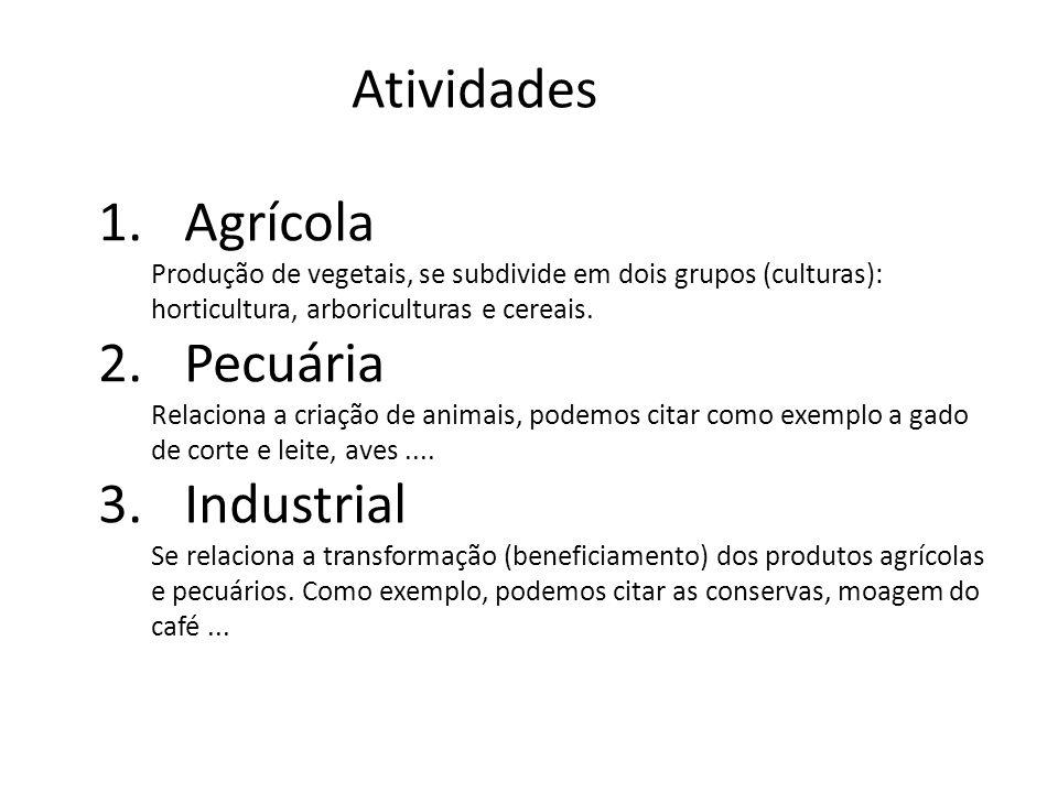 Atividades Agrícola Pecuária Industrial