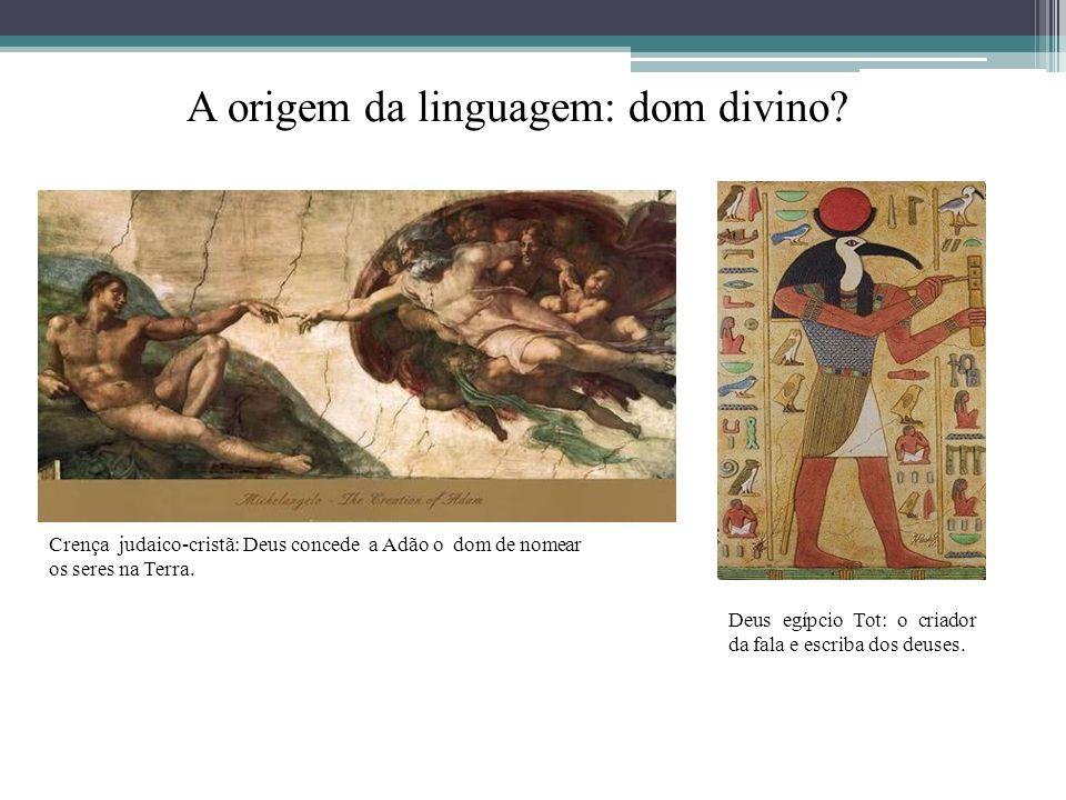 A origem da linguagem: dom divino