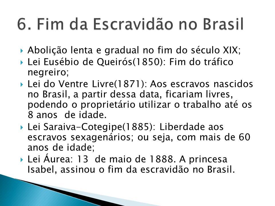 6. Fim da Escravidão no Brasil