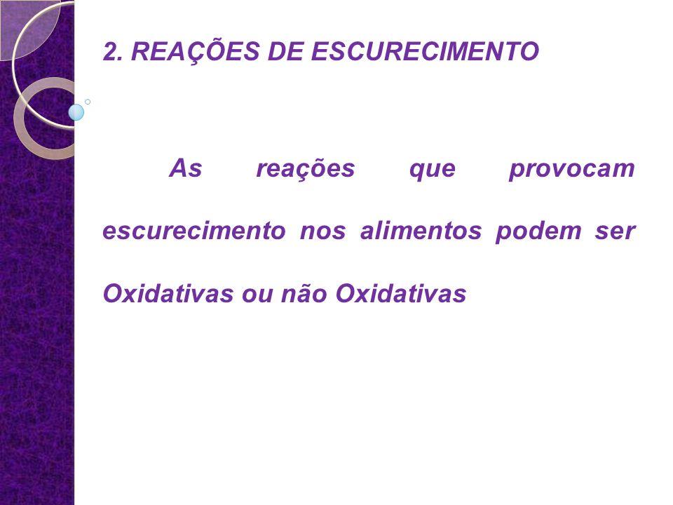 2. REAÇÕES DE ESCURECIMENTO