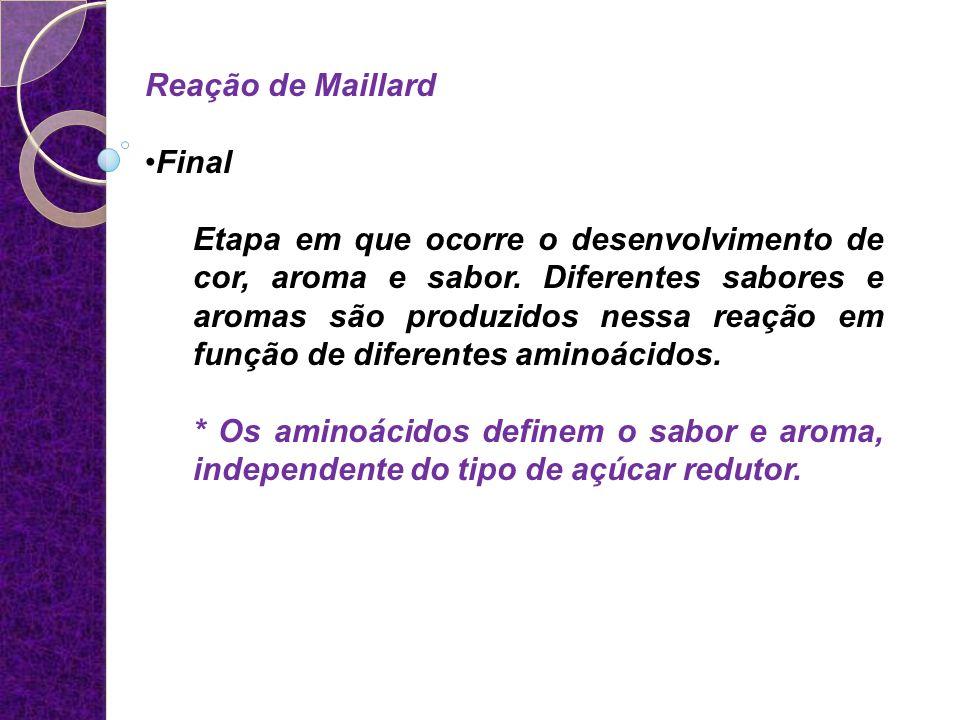 Reação de Maillard Final.