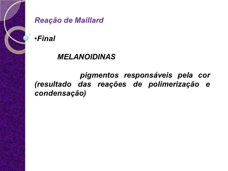Reação de Maillard Final. MELANOIDINAS.