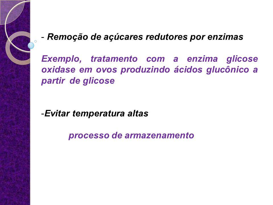 Remoção de açúcares redutores por enzimas