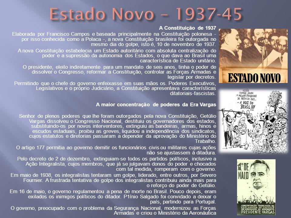Estado Novo – 1937-45