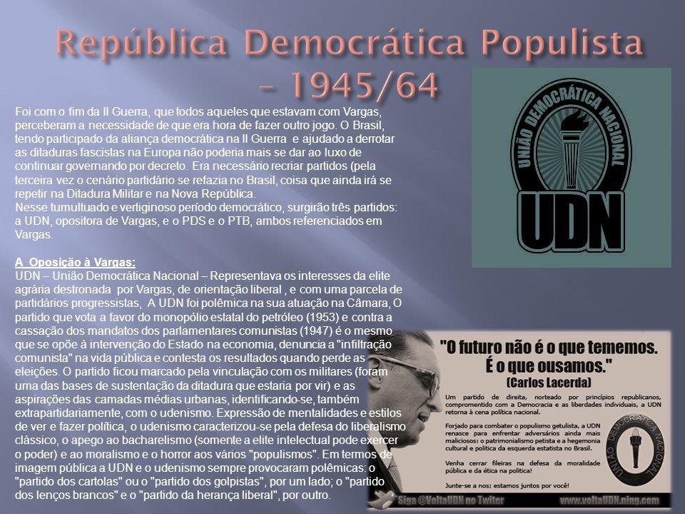 República Democrática Populista – 1945/64
