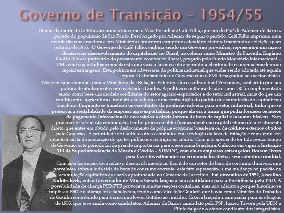 Governo de Transição – 1954/55