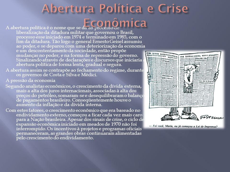 Abertura Política e Crise Econômica