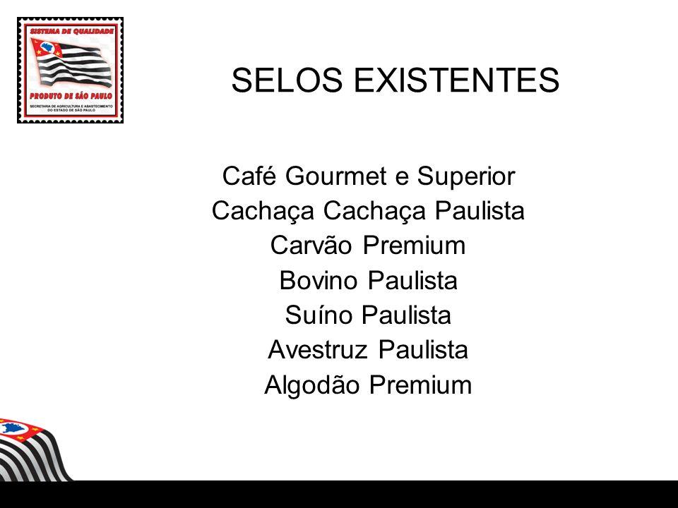 SELOS EXISTENTES Café Gourmet e Superior Cachaça Cachaça Paulista