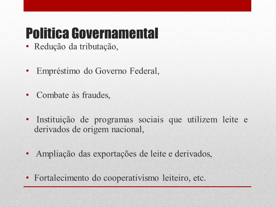 Politica Governamental