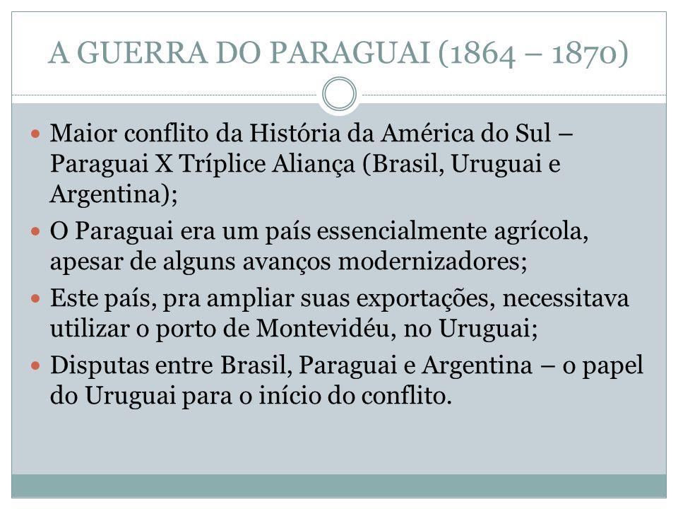 A GUERRA DO PARAGUAI (1864 – 1870)