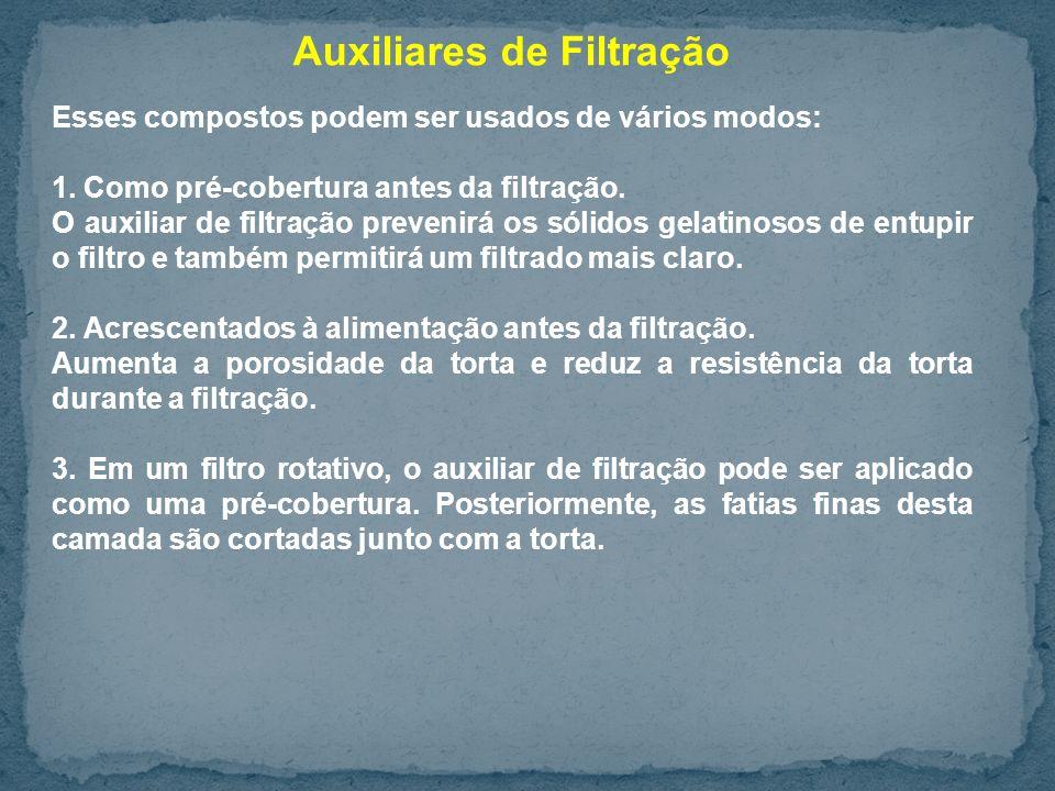 Auxiliares de Filtração