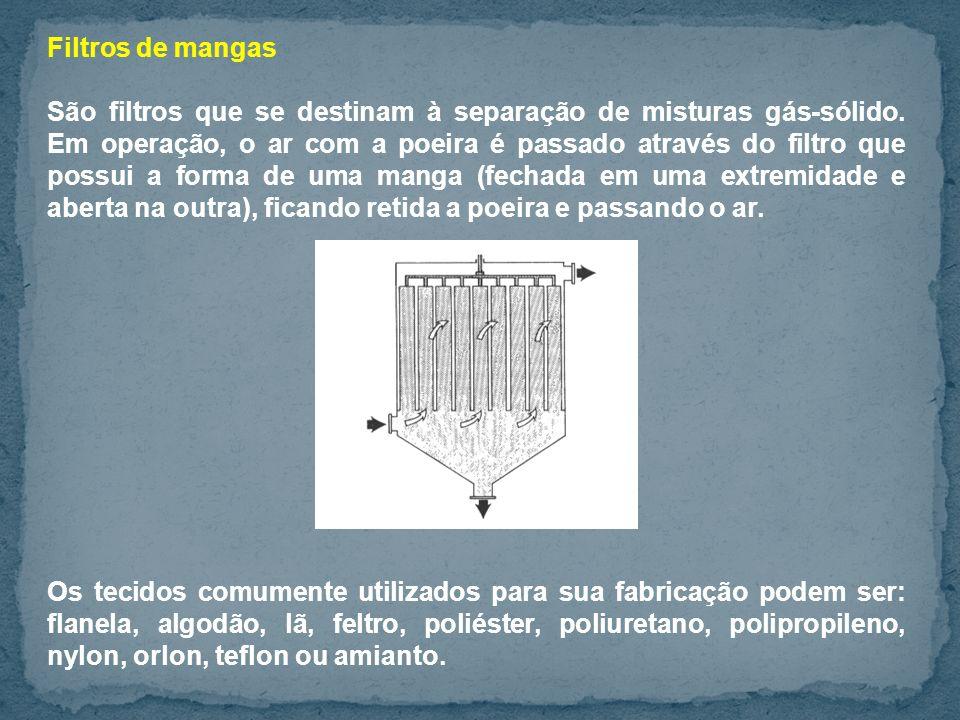 Filtros de mangas