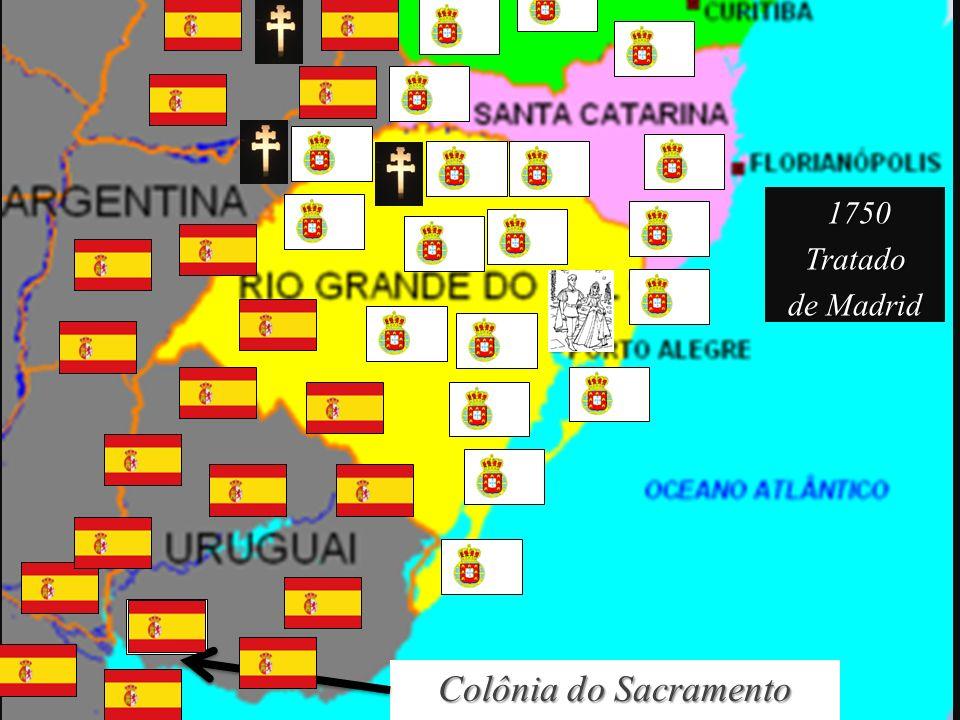 1750 Tratado de Madrid Colônia do Sacramento
