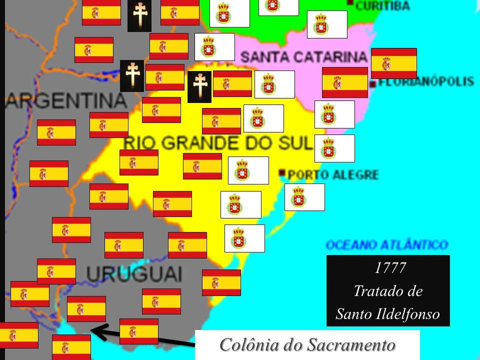 1777 Tratado de Santo Ildelfonso Colônia do Sacramento