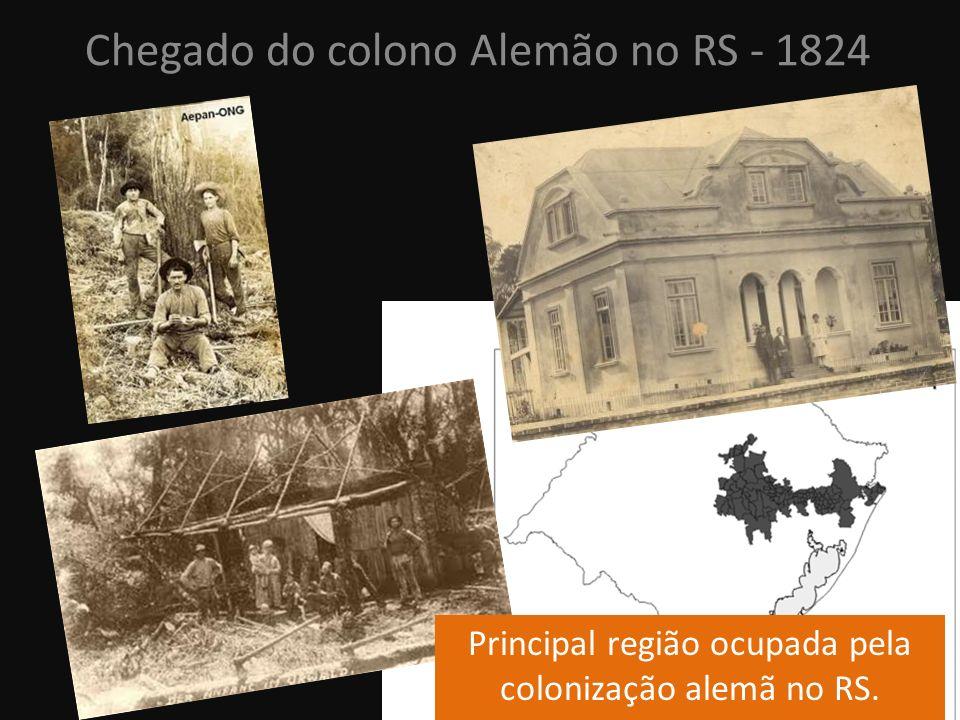 Principal região ocupada pela colonização alemã no RS.