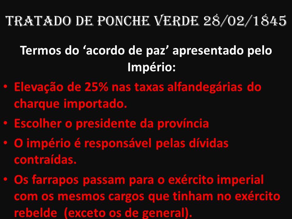 TRATADO De Ponche Verde 28/02/1845