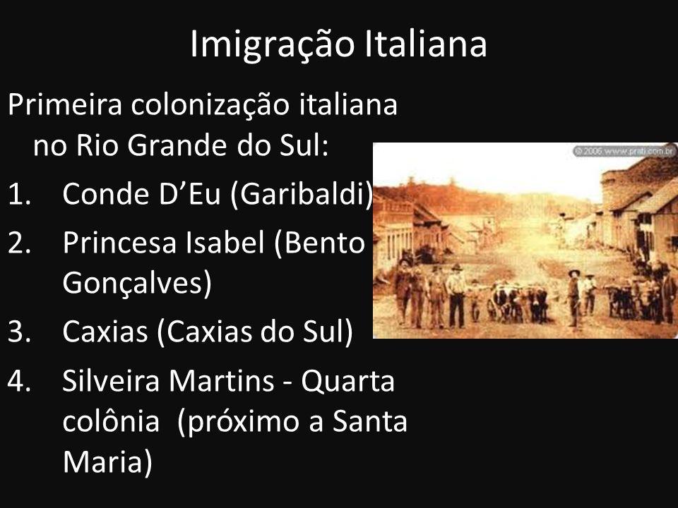 Imigração Italiana Primeira colonização italiana no Rio Grande do Sul: