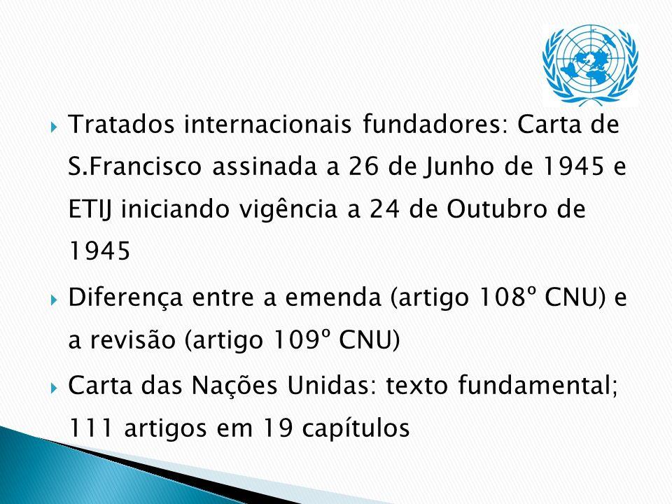 Tratados internacionais fundadores: Carta de S