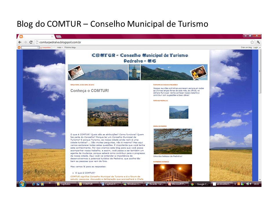 Blog do COMTUR – Conselho Municipal de Turismo