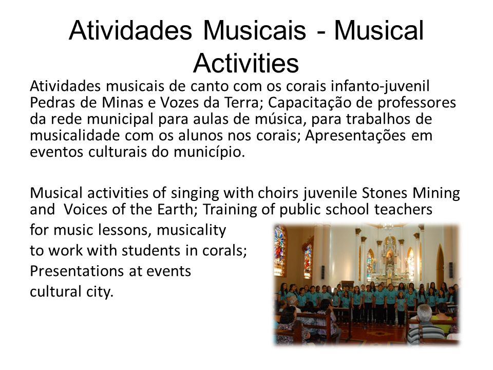 Atividades Musicais - Musical Activities