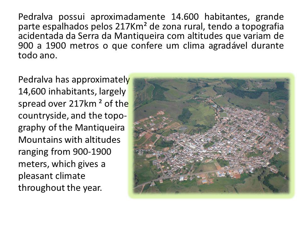 Pedralva possui aproximadamente 14