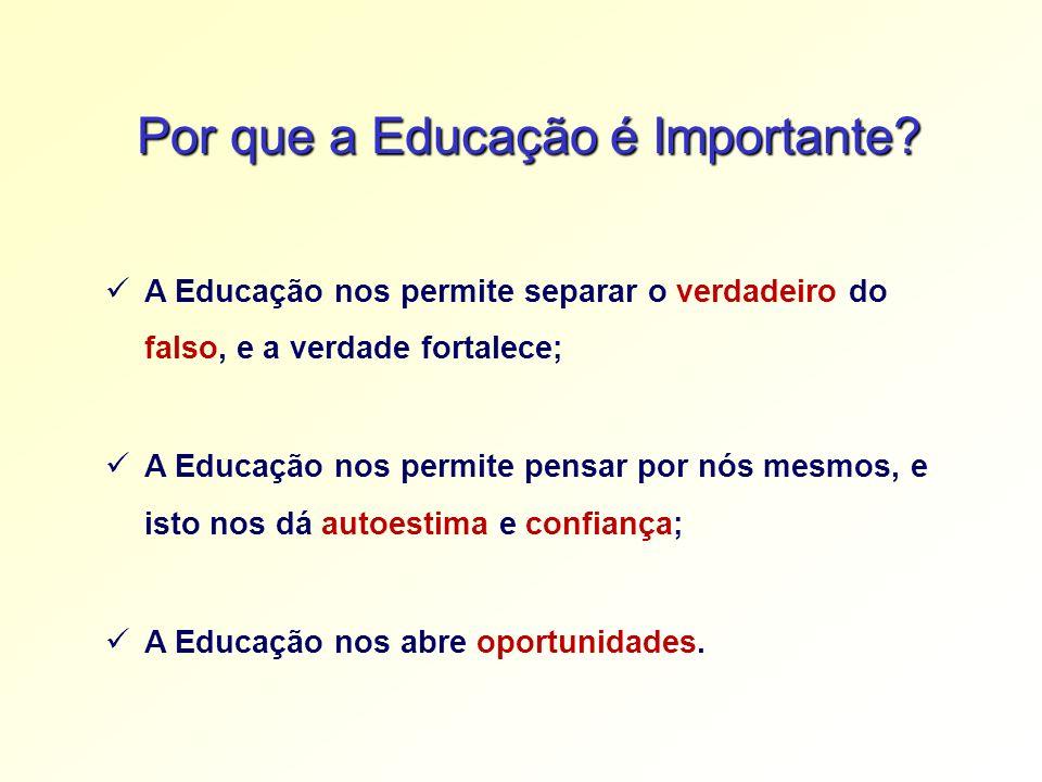 Por que a Educação é Importante