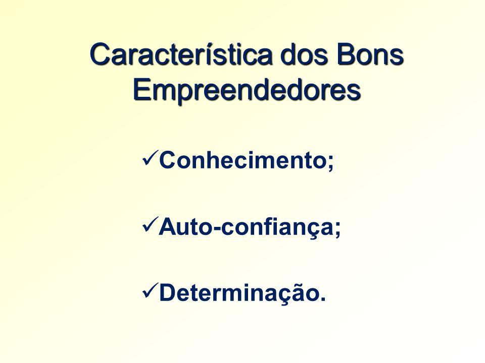 Característica dos Bons Empreendedores