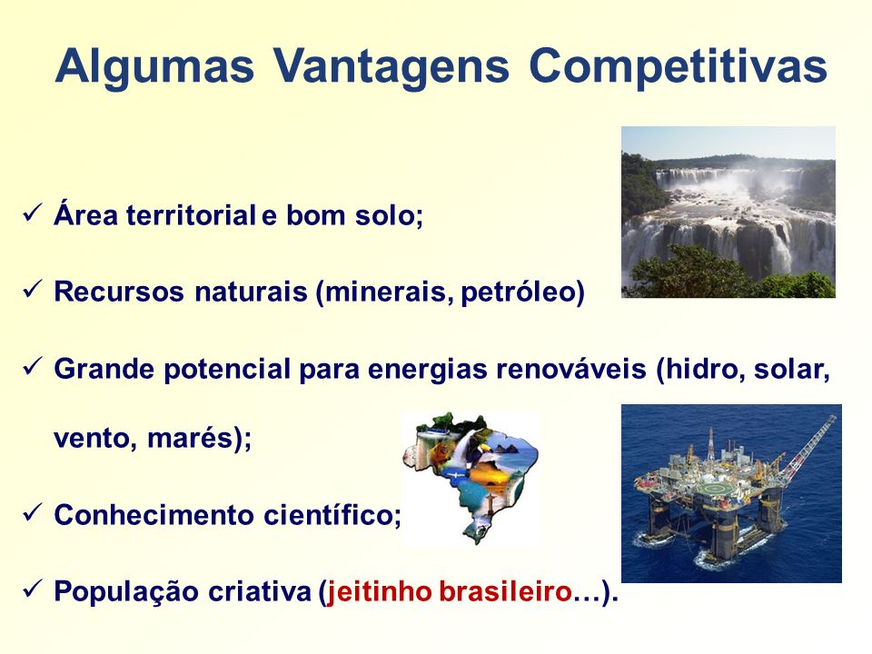Algumas Vantagens Competitivas