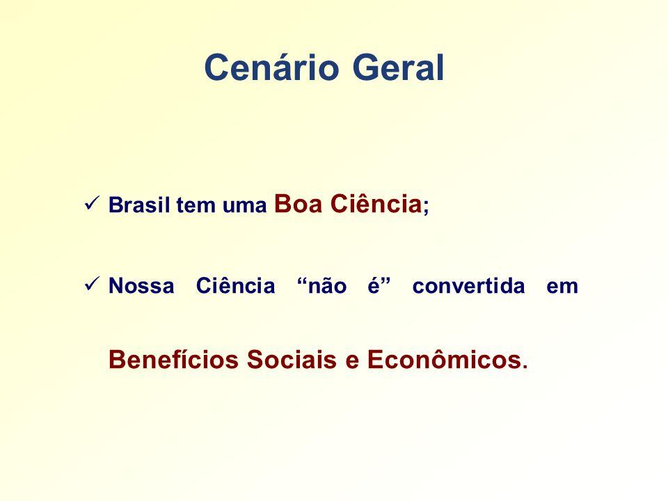 Cenário Geral Brasil tem uma Boa Ciência;