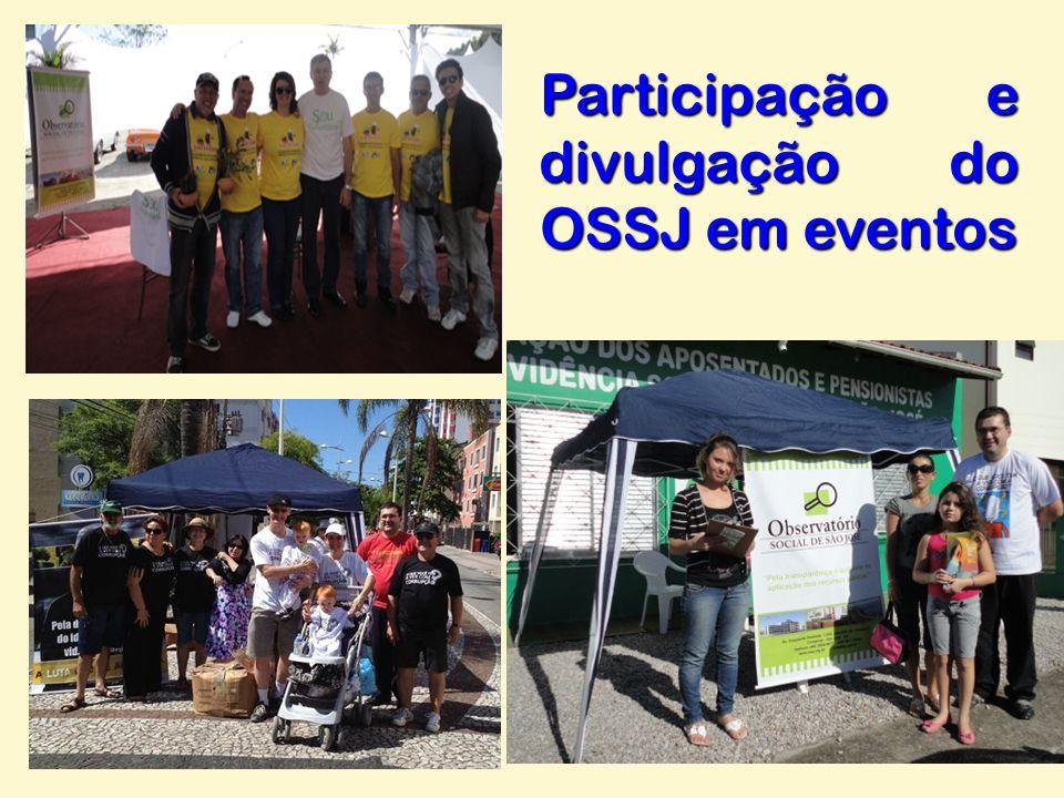 Participação e divulgação do OSSJ em eventos