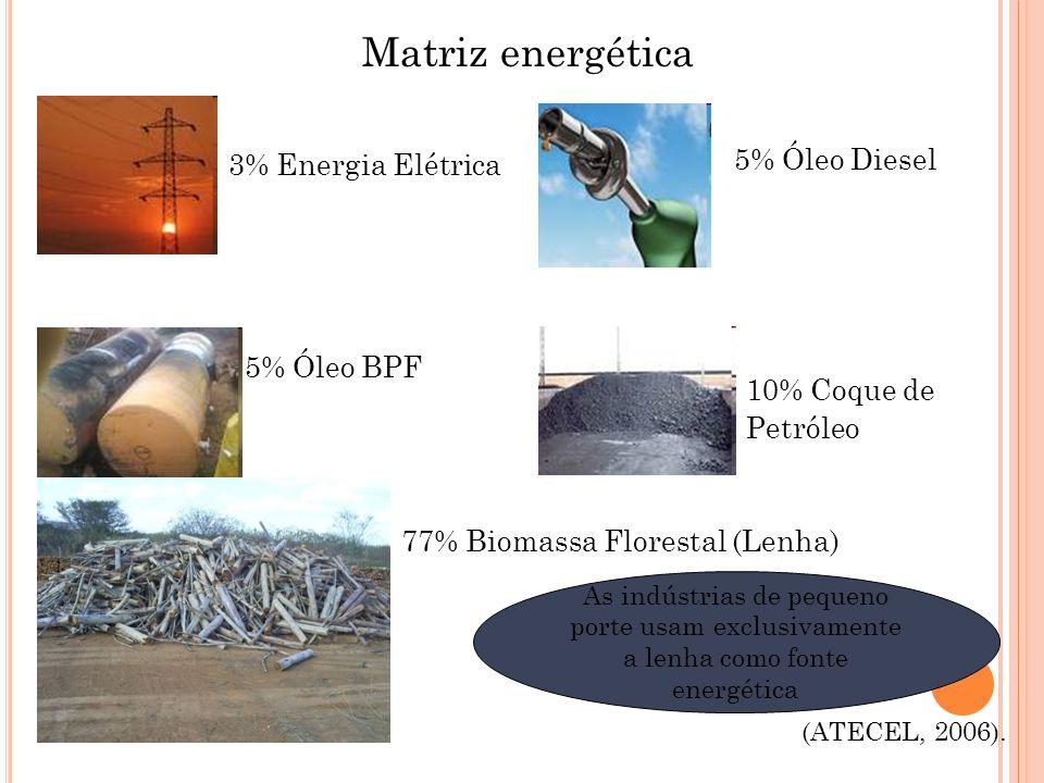Matriz energética 5% Óleo Diesel 3% Energia Elétrica 5% Óleo BPF