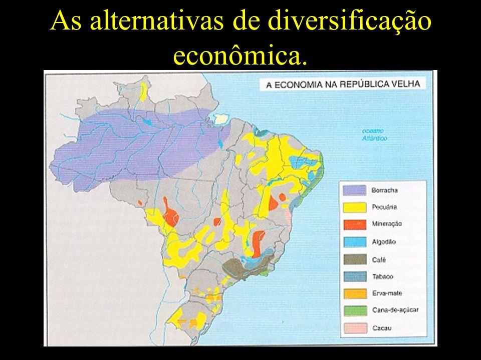 As alternativas de diversificação econômica.