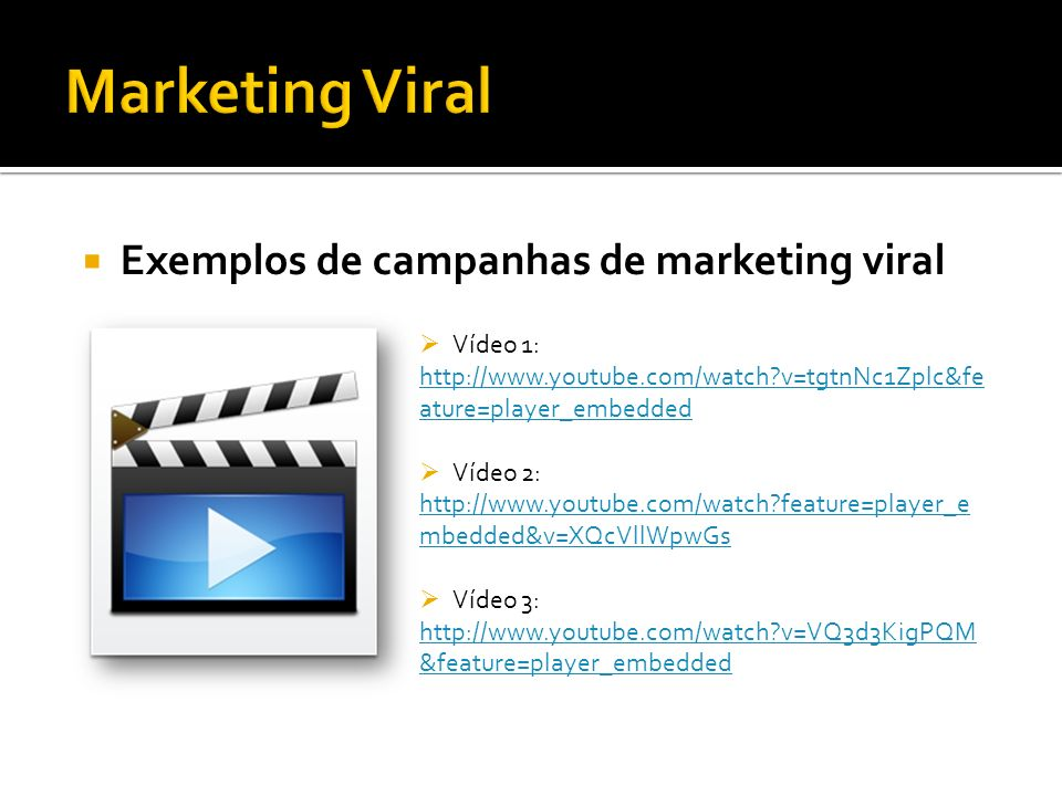 Marketing Viral Exemplos de campanhas de marketing viral Vídeo 1: