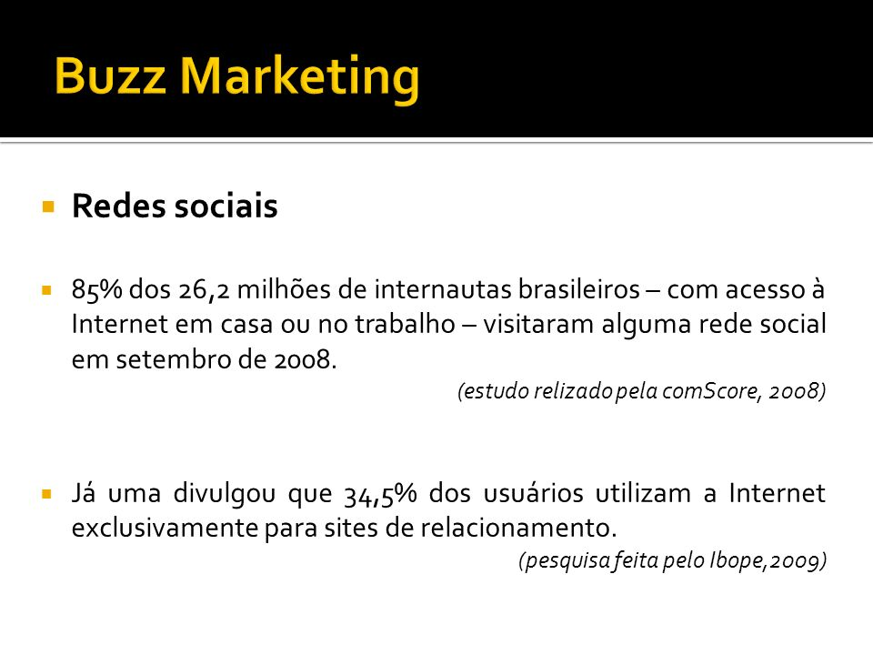 Buzz Marketing Redes sociais