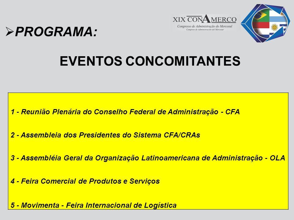 PROGRAMA: EVENTOS CONCOMITANTES