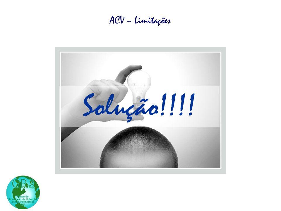 Solução!!!! ACV – Limitações