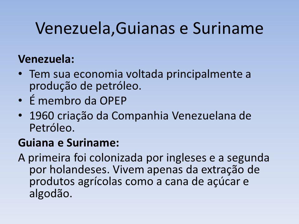 Venezuela,Guianas e Suriname
