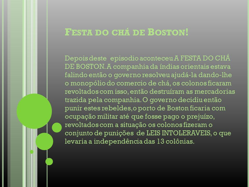 Festa do chá de Boston!