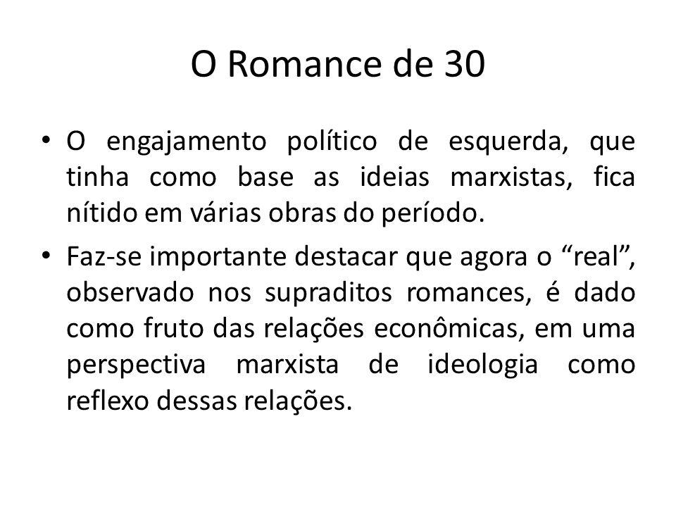 O Romance de 30 O engajamento político de esquerda, que tinha como base as ideias marxistas, fica nítido em várias obras do período.