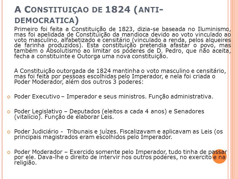 A Constituiçao de 1824 (anti-democratica)