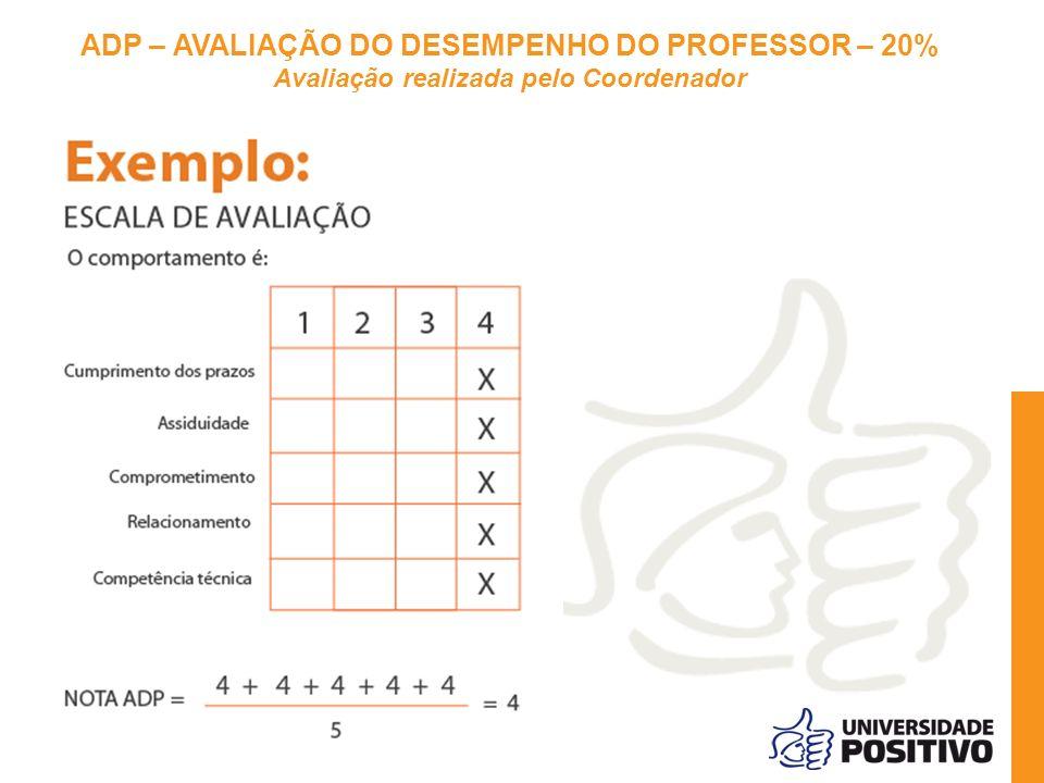 ADP – AVALIAÇÃO DO DESEMPENHO DO PROFESSOR – 20%