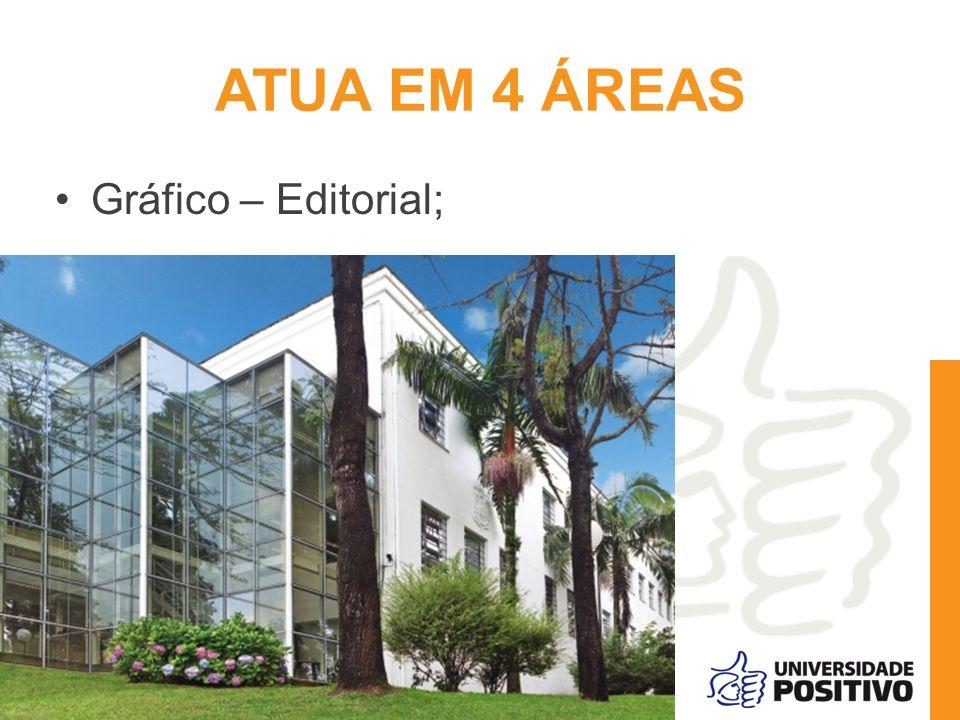 ATUA EM 4 ÁREAS Gráfico – Editorial;