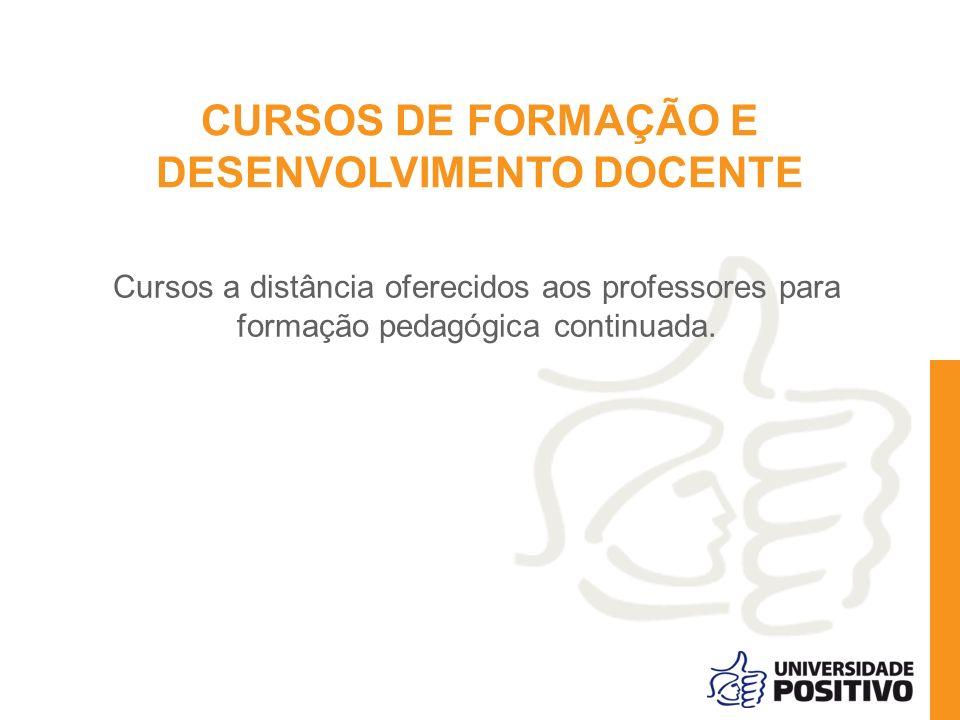 CURSOS DE FORMAÇÃO E DESENVOLVIMENTO DOCENTE